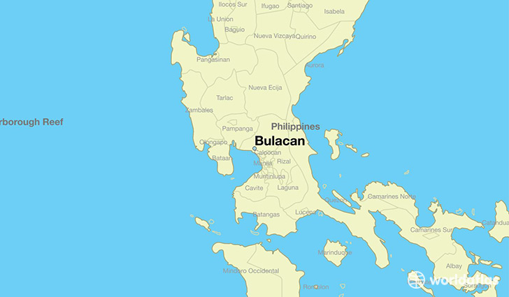 map showing the location of Bulacan
