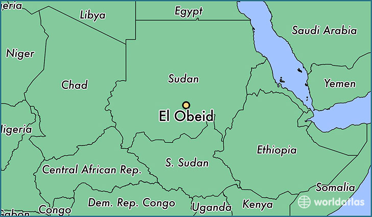 map showing the location of El Obeid