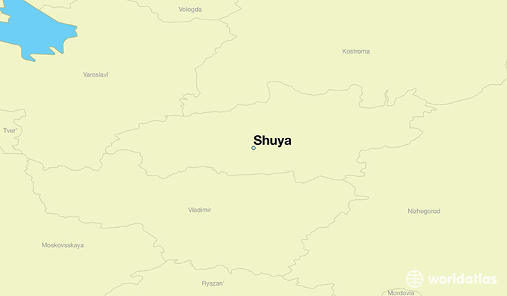 map showing the location of Shuya