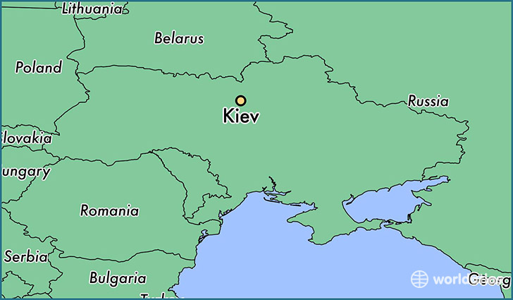 Where is kiev ukraine kiev kyiv city map worldatlas map showing the location of kiev gumiabroncs Image collections