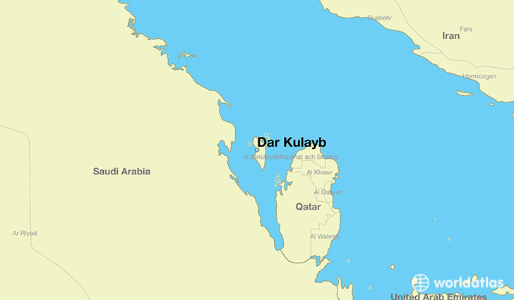 map showing the location of Dar Kulayb