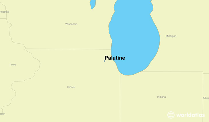 Palatine Illinois Map.Where Is Palatine Il Palatine Illinois Map Worldatlas Com