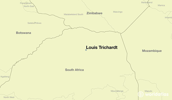 map showing the location of Louis Trichardt