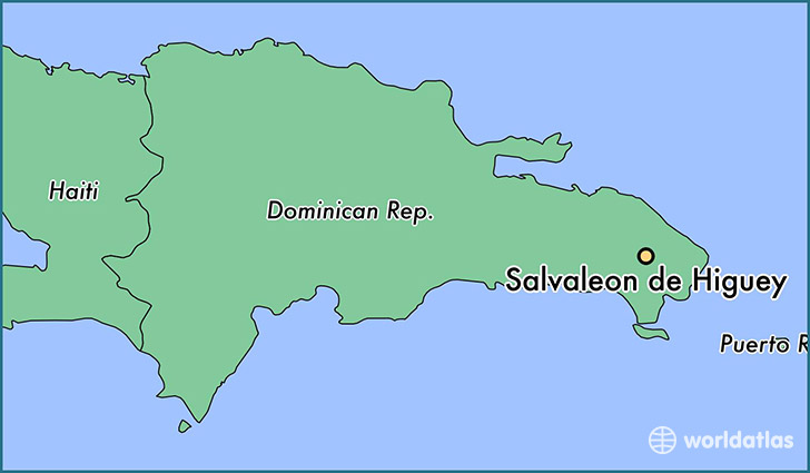 map showing the location of Salvaleon de Higuey