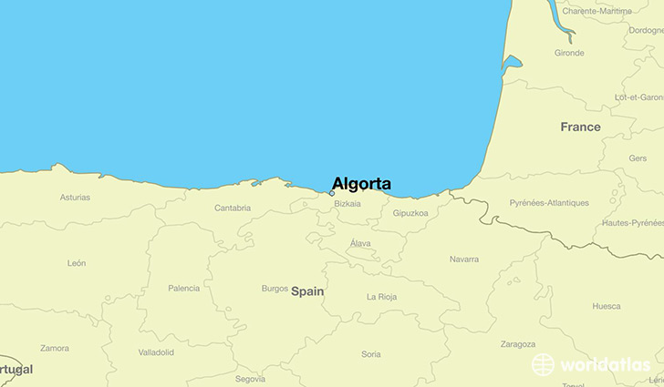 map showing the location of Algorta