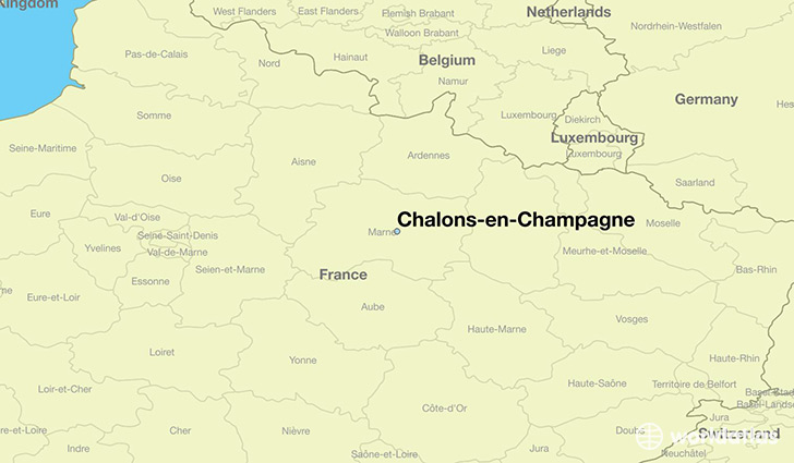 map showing the location of Chalons-en-Champagne