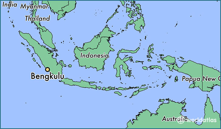 map showing the location of Bengkulu