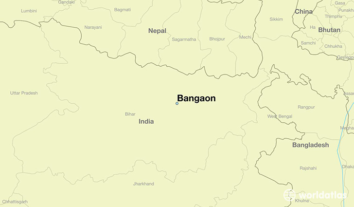 map showing the location of Bangaon