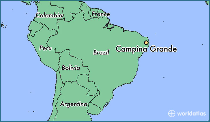 map showing the location of Campina Grande