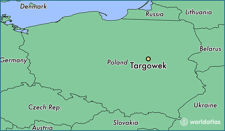map showing the location of Targowek
