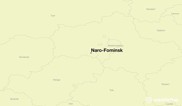 map showing the location of Naro-Fominsk