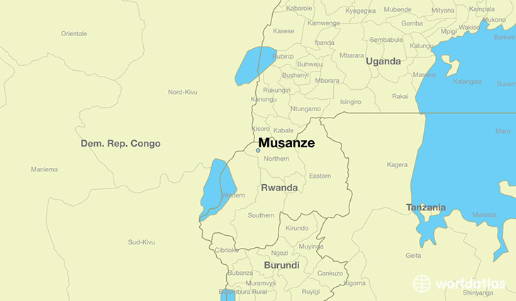 map showing the location of Musanze