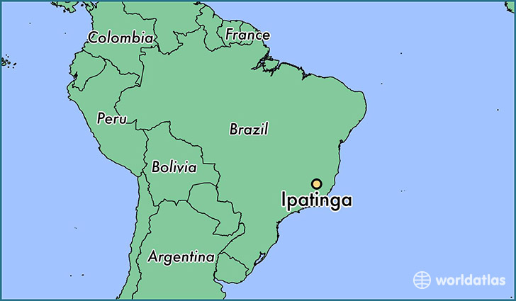 map showing the location of Ipatinga