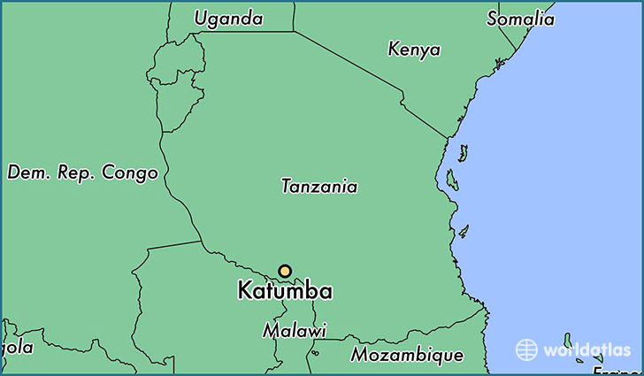 map showing the location of Katumba
