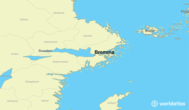 map showing the location of Bromma