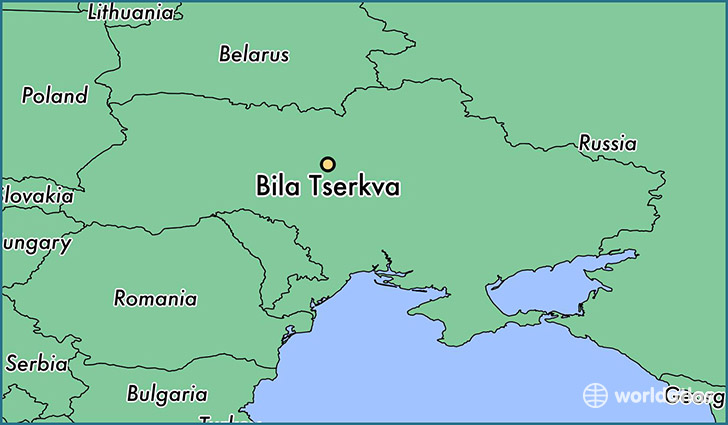 map showing the location of Bila Tserkva