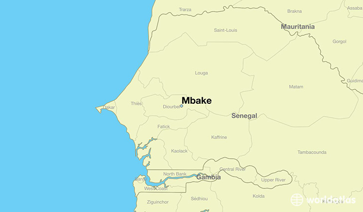 map showing the location of Mbake