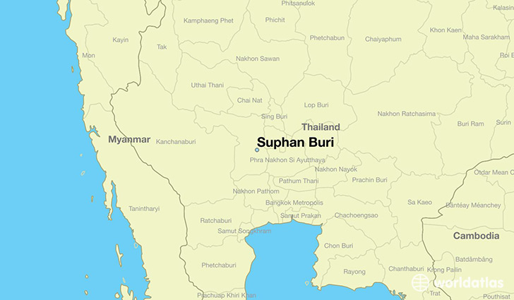map showing the location of Suphan Buri