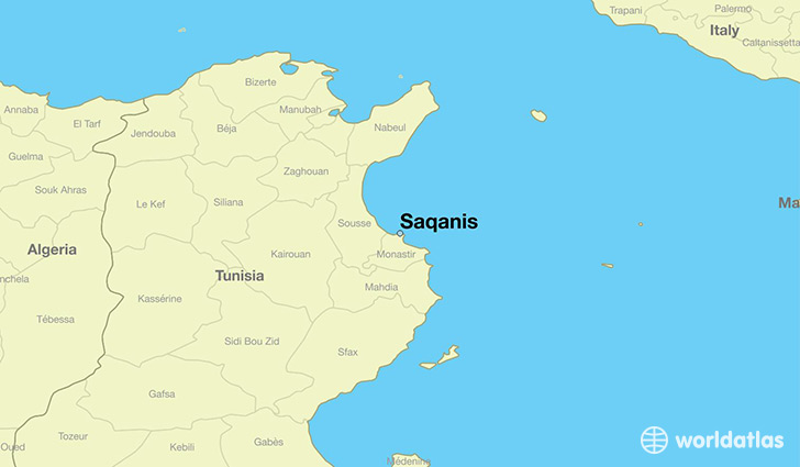 map showing the location of Saqanis