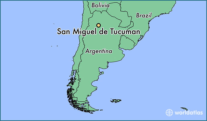 map showing the location of San Miguel de Tucuman