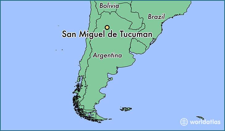 Where Is San Miguel De Tucuman Argentina Where Is San Miguel - Argentina map tucuman