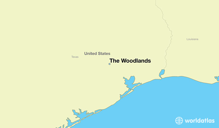 map showing the location of The Woodlands