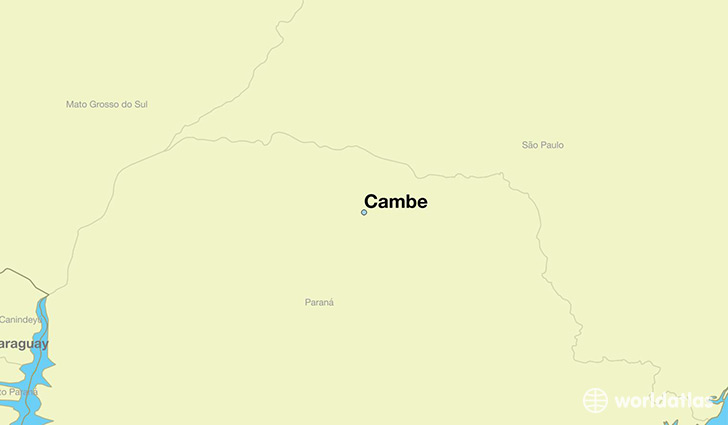 map showing the location of Cambe