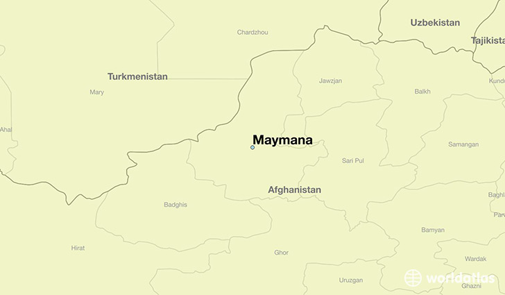map showing the location of Maymana