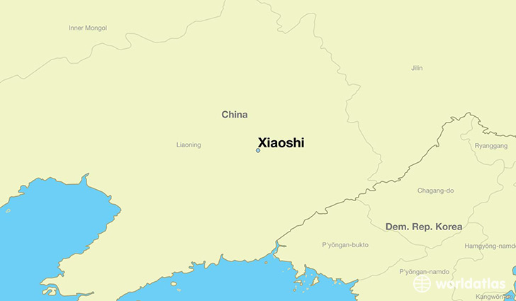 map showing the location of Xiaoshi