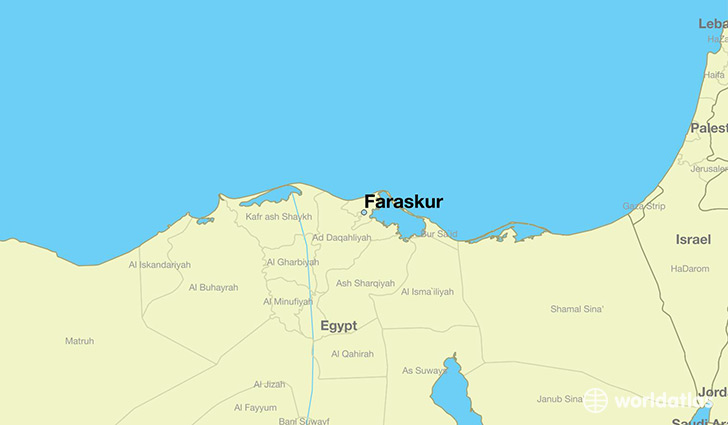 map showing the location of Faraskur