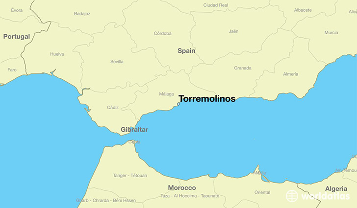 map showing the location of Torremolinos
