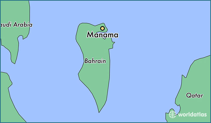 map showing the location of Manama