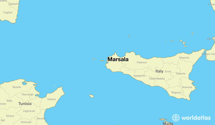 Where is Marsala Italy Marsala Sicily Map WorldAtlascom