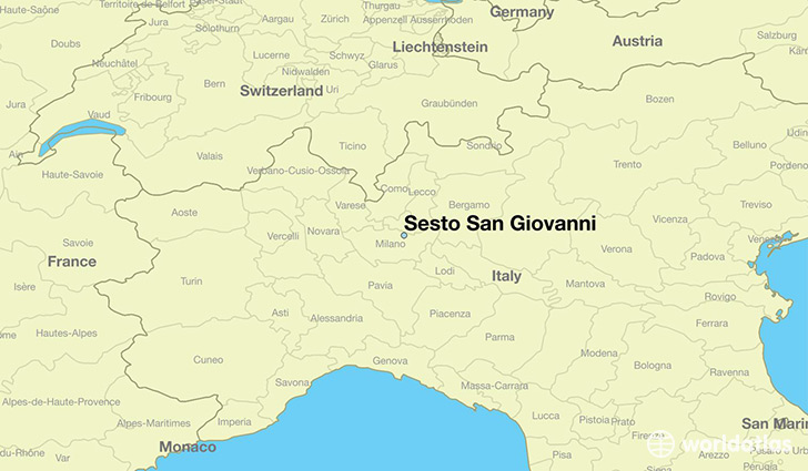 map showing the location of Sesto San Giovanni