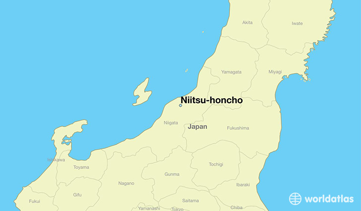 map showing the location of Niitsu-honcho