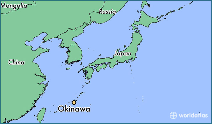 Where is okinawa japan okinawa okinawa map worldatlas map showing the location of okinawa gumiabroncs Choice Image