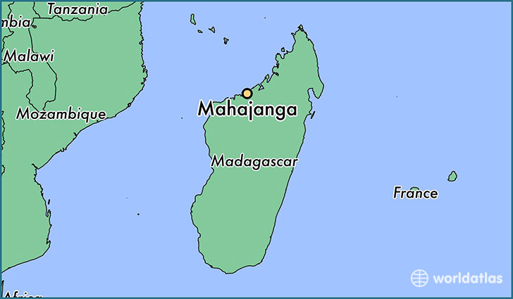 map showing the location of Mahajanga