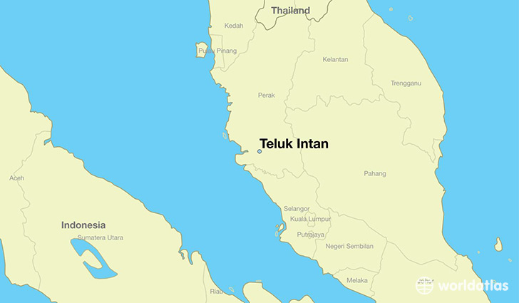 map showing the location of Teluk Intan