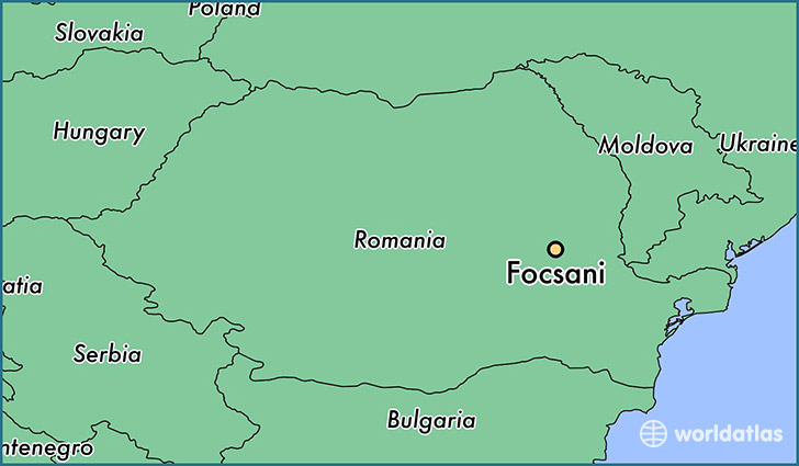 map showing the location of Focsani