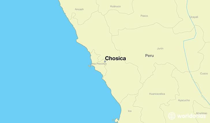 Where Is Chosica Peru Chosica Lima Map WorldAtlascom - Where is lima