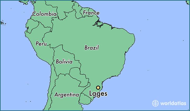 map showing the location of Lages