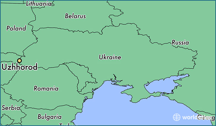 map showing the location of Uzhhorod