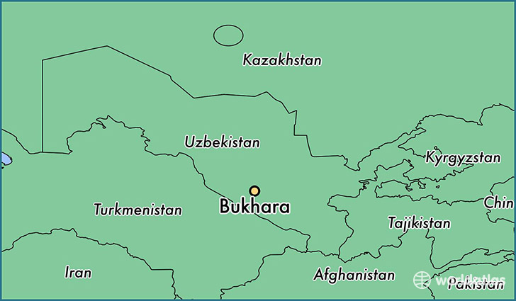 map showing the location of Bukhara