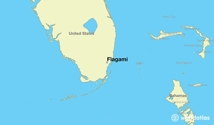 map showing the location of Flagami