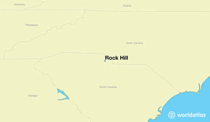 map showing the location of Rock Hill