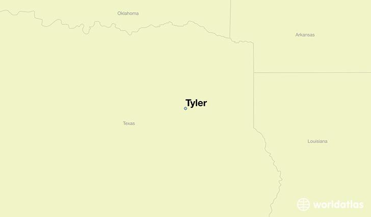 Where Is Tyler Tx Tyler Texas Map Worldatlas Com