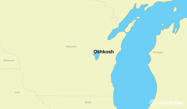 Where is Oshkosh WI Oshkosh Wisconsin Map WorldAtlascom