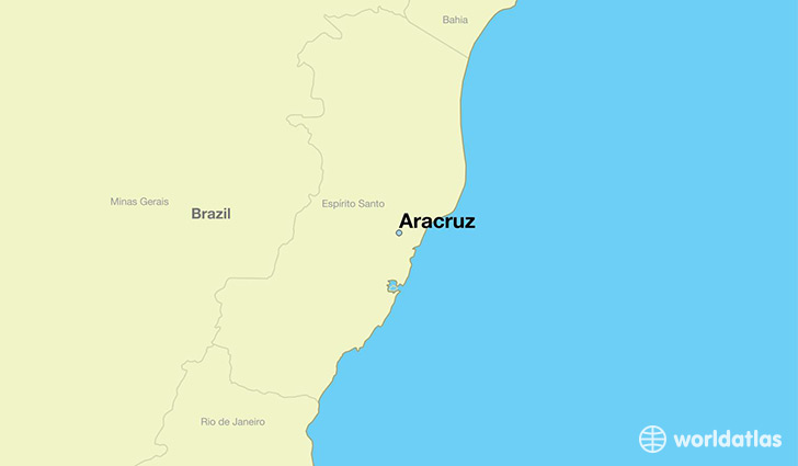 map showing the location of Aracruz