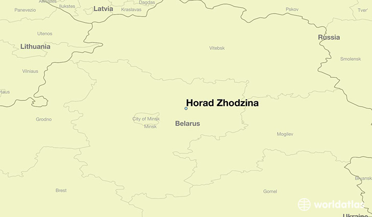 map showing the location of Horad Zhodzina