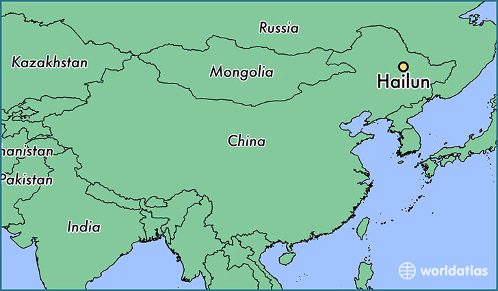 map showing the location of Hailun